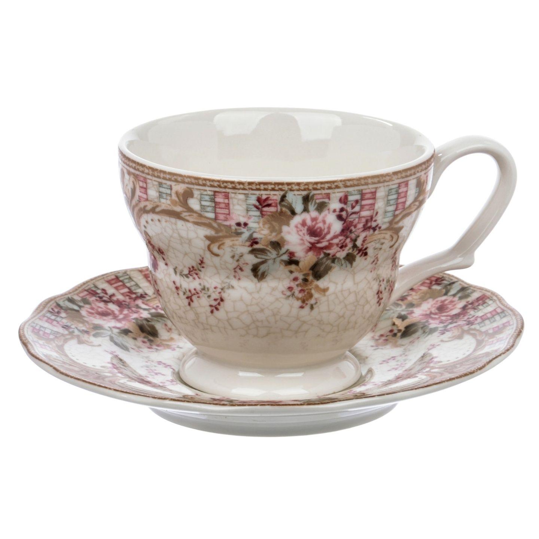 Чашка с блюдцем Utana Inc Абингтон Роуз
