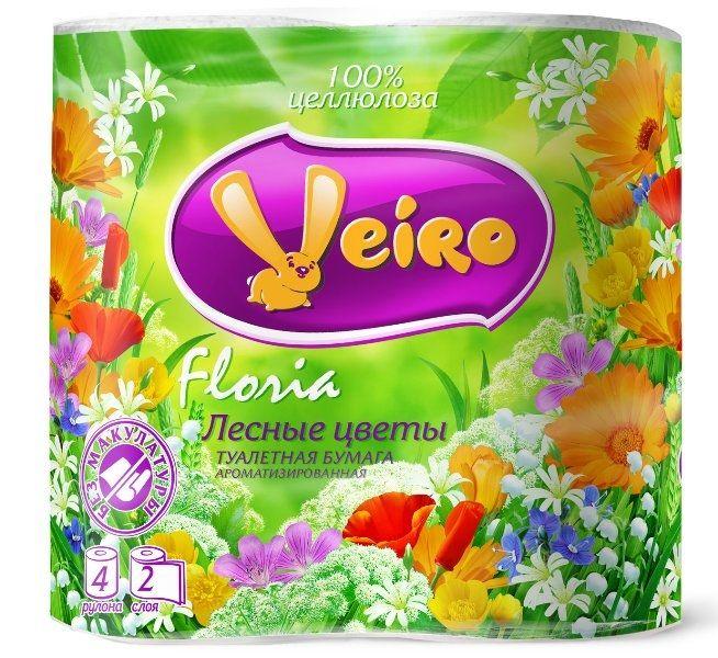 Туалетная бумага VEIRO Floria 4 рул. 2 слоя