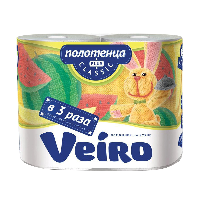 Полотенца бумажные Veiro Classic Plus 2 рулона