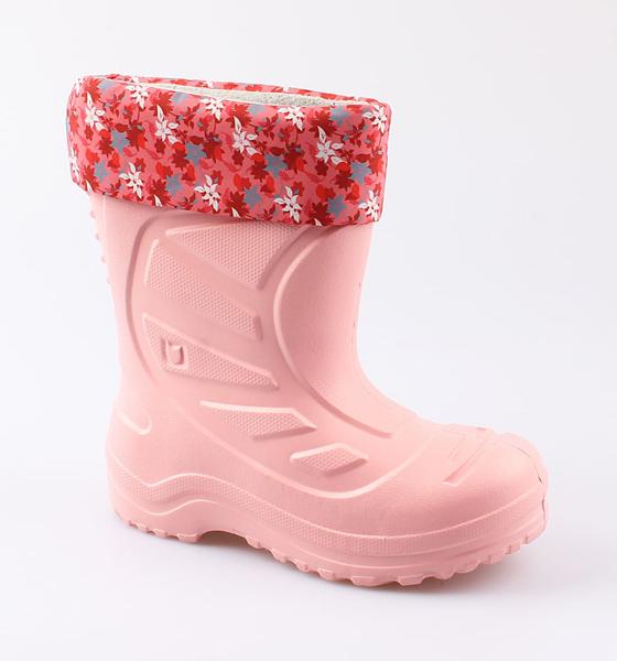 Резиновая обувь для девочек Котофей, цв. коралловый, р-р 31