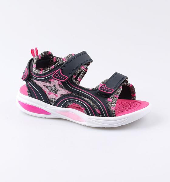 Купить 524035, Пляжная обувь для девочек Котофей, цв. синий, фуксия, р-р 34,