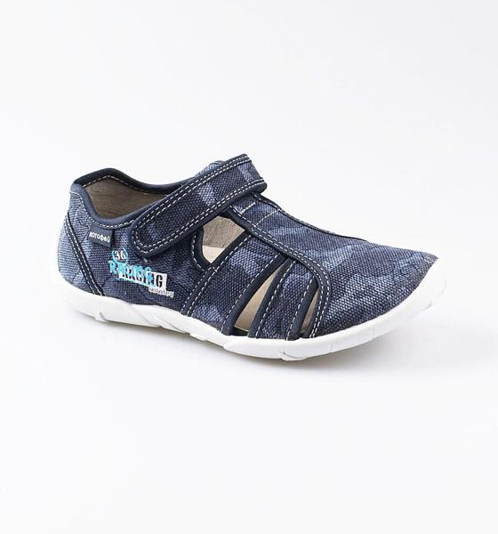 Текстильная обувь для мальчиков Котофей, цв. синий, р-р 26