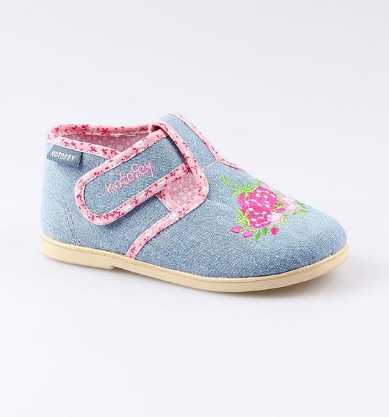 Текстильная обувь для девочек Котофей, цв. голубой,