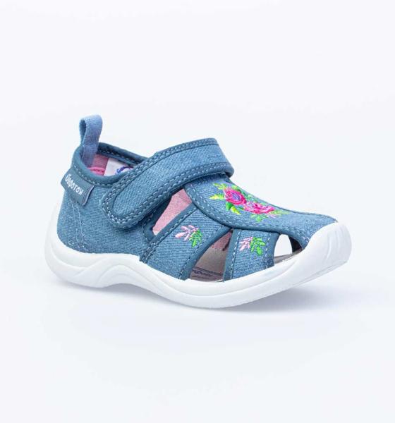 Текстильная обувь для девочек Котофей, цв. голубой, р-р 22