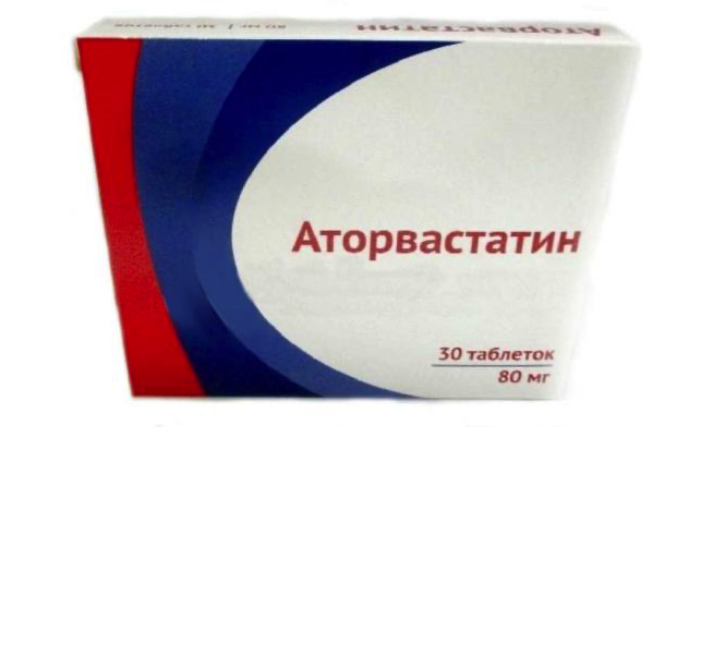 Купить Аторвастатин таблетки п.п.о. 80 мг 30 шт. Озон, Озон ООО