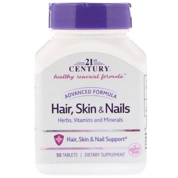Купить Витамины 21st Century Hair, Skin & Nails Advanced Formula таблетки 50 шт.