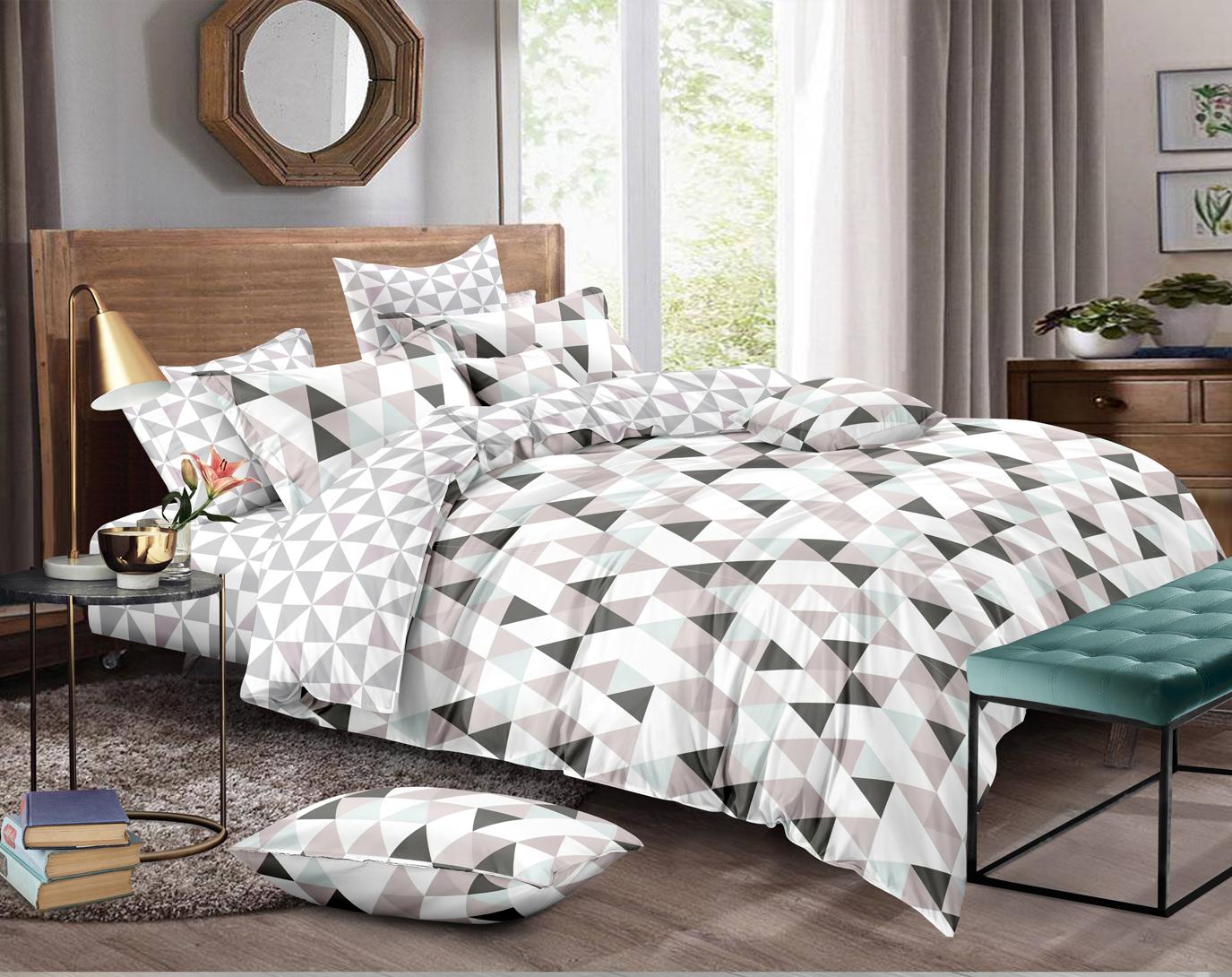 Комплект постельного белья двуспальный-евро Amore Mio, Miles