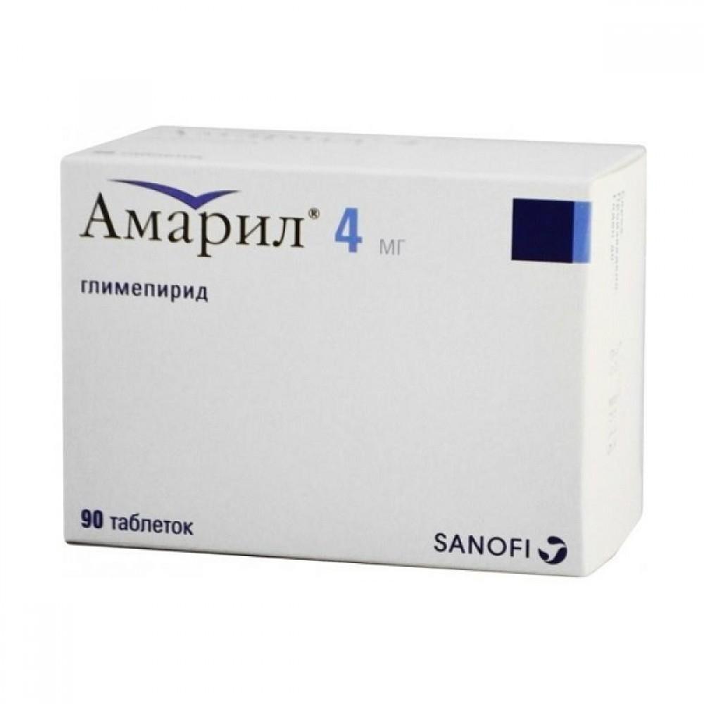 Купить Амарил таблетки 4 мг 90 шт., Sanofi Aventis