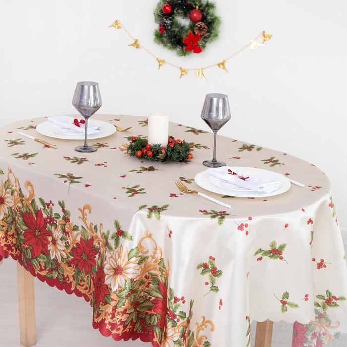Скатерть Доляна «Новогоднее настроение» 145×260 см, 100% п/э Доляна