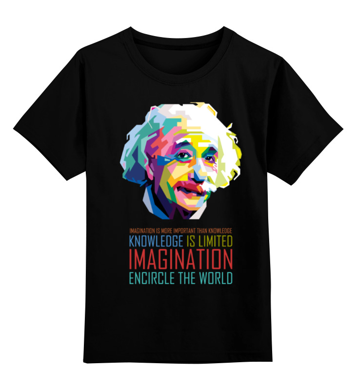 Детская футболка Printio Альберт эйнштейн цв.черный р.104 0000001453221 по цене 990