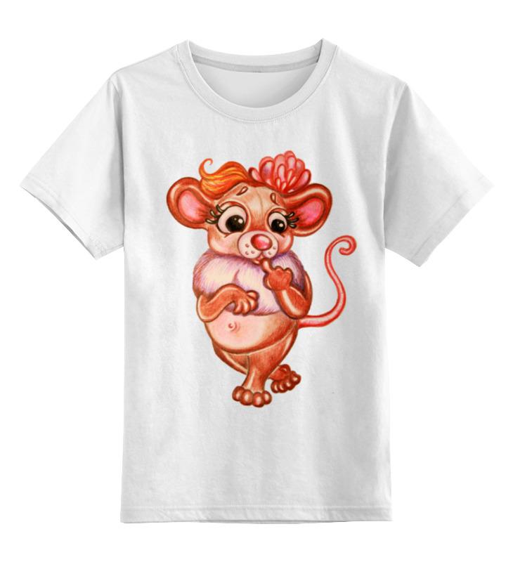 Детская футболка Printio Год мыши цв.белый р.104 0000001269700 по цене 790