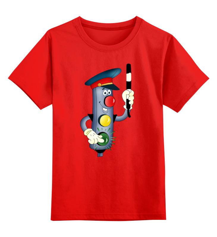 Купить 0000001207049, Детская футболка Printio Светофор цв.красный р.104,