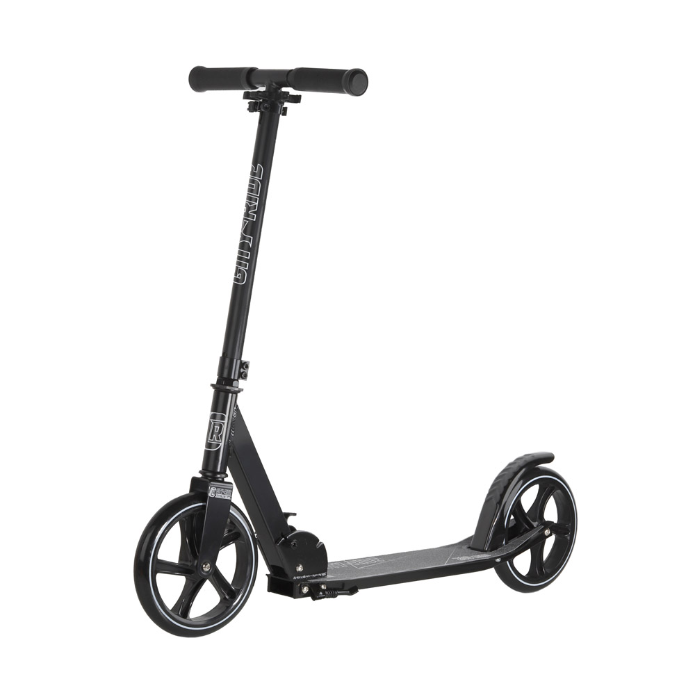 Купить Двухколесный самокат City-Ride CR-S2-01ED Черный, Самокаты детские двухколесные