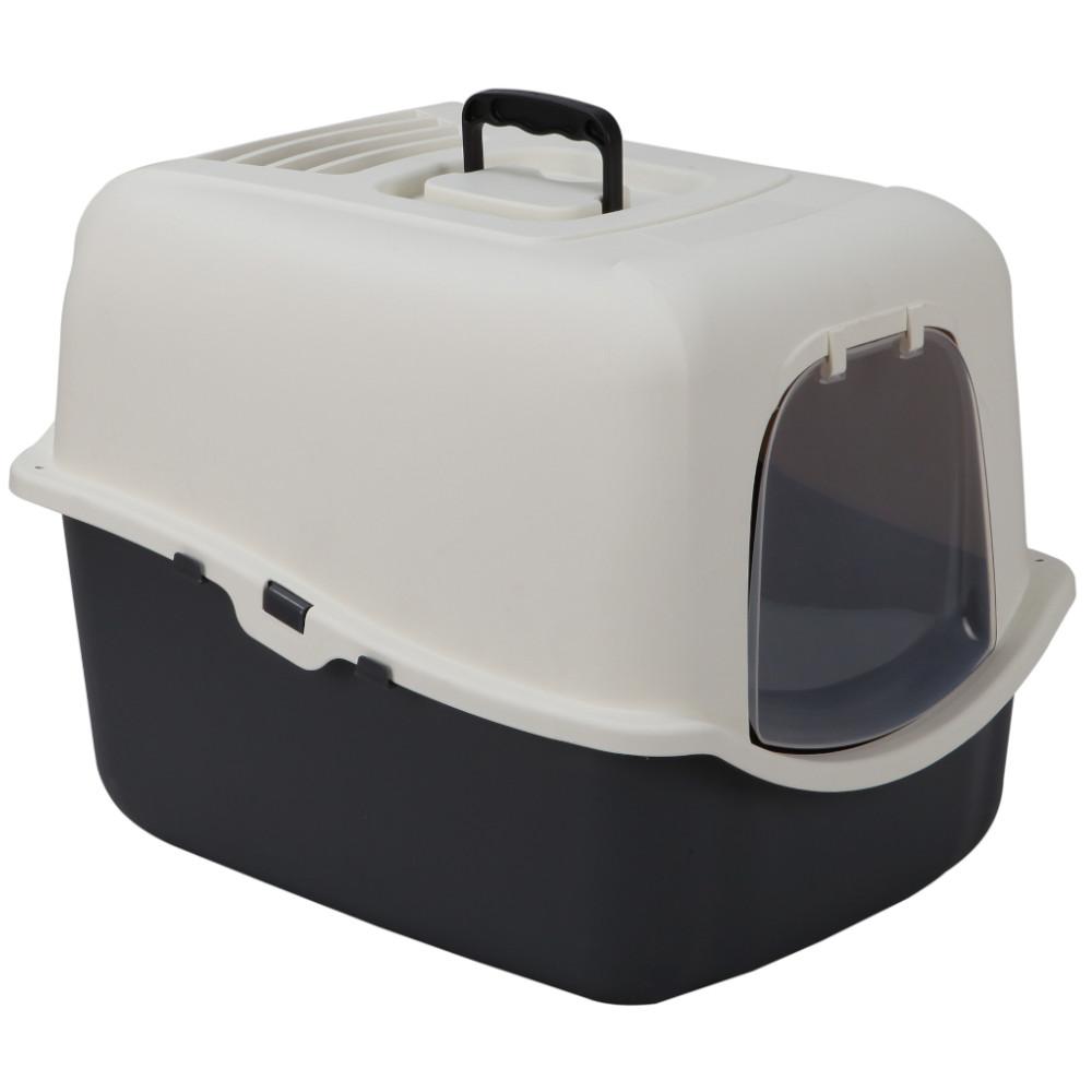 Туалет для кошек Petmode , прямоугольный, серый,