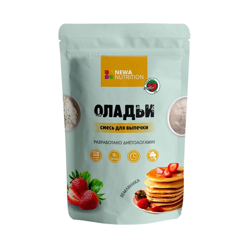 Оладьи NEWA Nutrition (смесь для выпечки) 200г - земляника