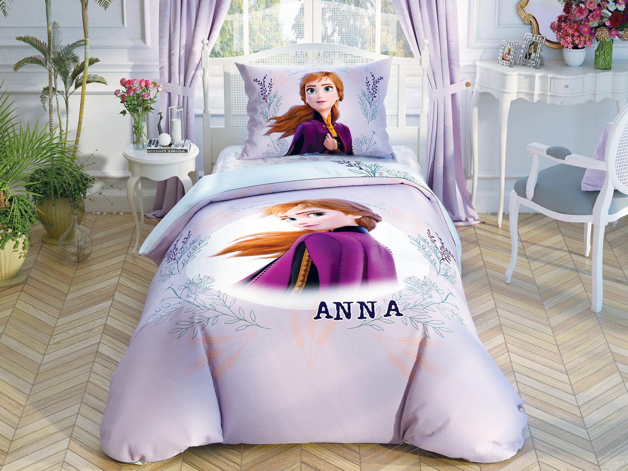 Постельное белье детское FROZEN II DOUBLE COLOR ANNA, 1,5-спальное