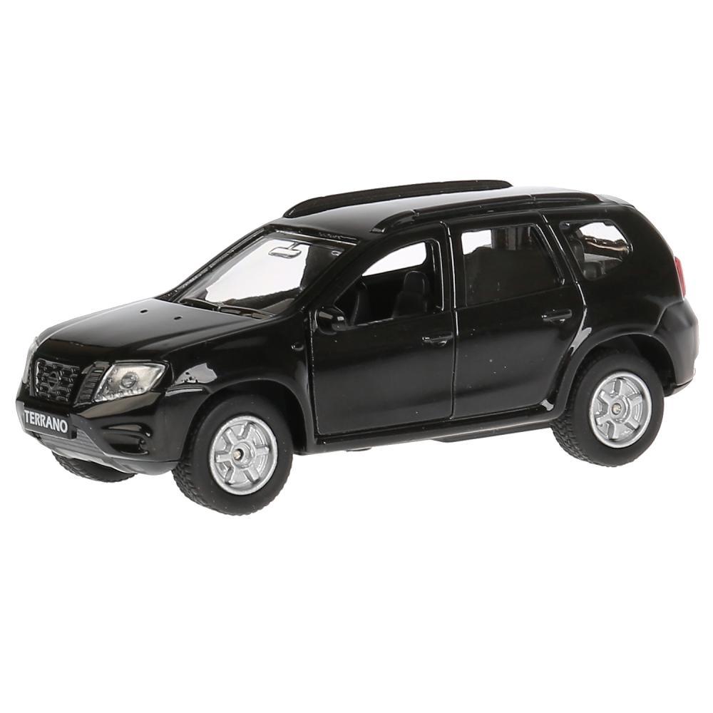 Инерционная металлическая машина Технопарк Nissan Terrano черный, 12 см