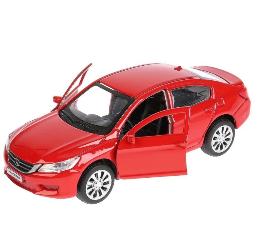 Машина металлическая инерционная Технопарк Honda Accord красная, 12 см