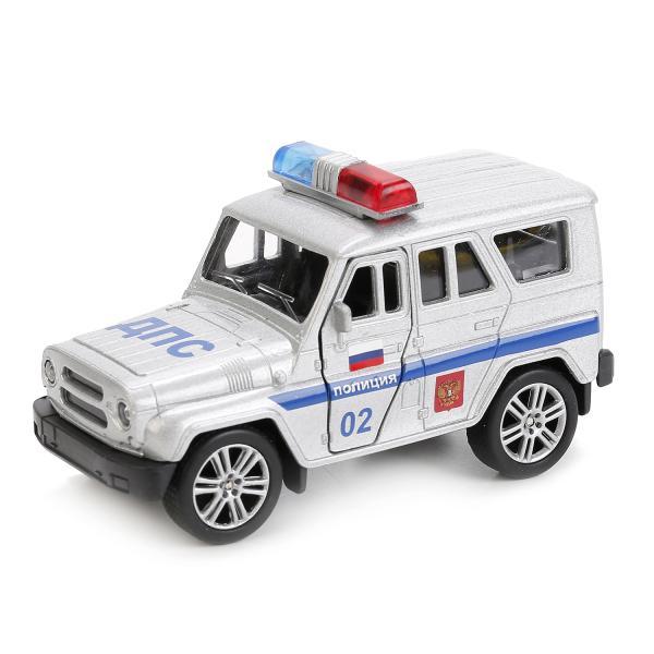 Технопарк Металлическая инерционная модель – Uaz Hunter Полиция, 11,5 см