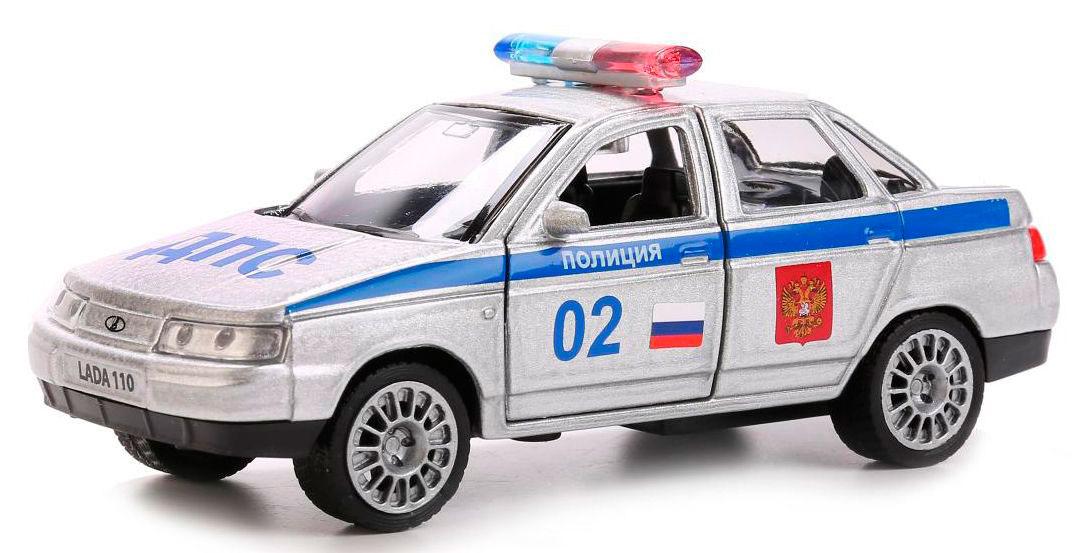 Купить Машина металлическая инерционная Технопарк Лада 110 Полиция, 12 см,