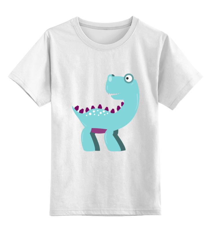 Купить 0000002143270, Детская футболка Printio Динозавр цв.белый р.116,