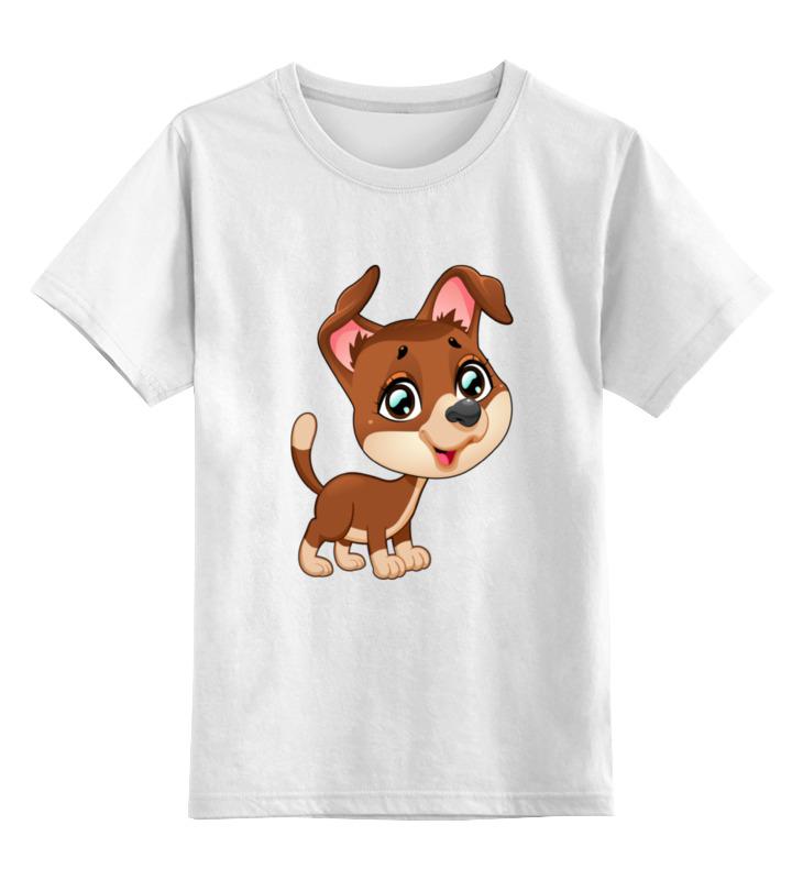 Детская футболка Printio Собачка цв.белый р.116 0000001986860 по цене 790
