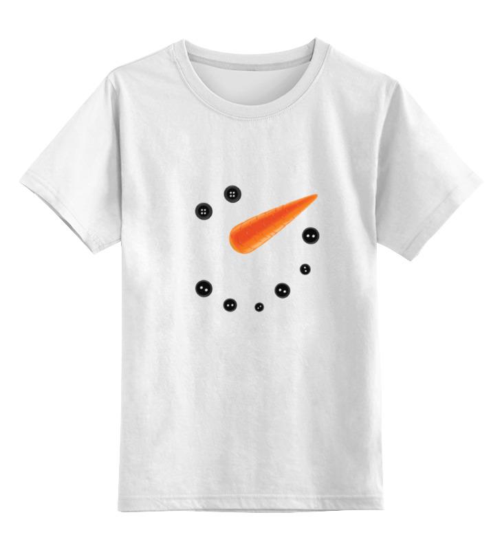 Купить 0000001606527, Детская футболка Printio Снеговик цв.белый р.116,