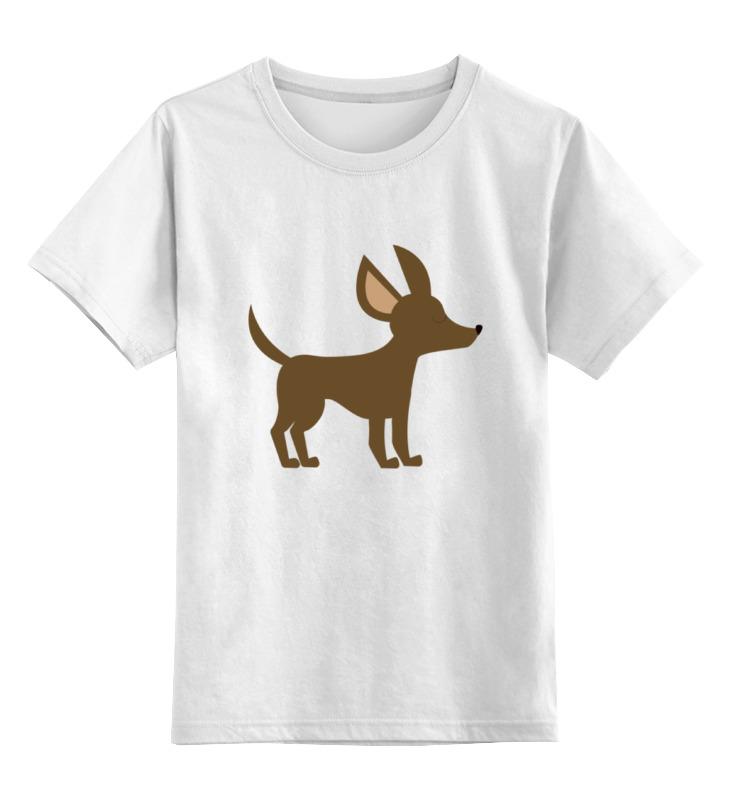 Детская футболка Printio Собачка цв.белый р.128 0000002205287 по цене 790