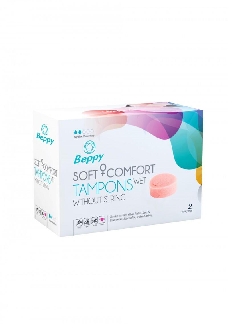 Купить Тампоны гигиенические Beppy Soft & Comfort Wet, 2 шт
