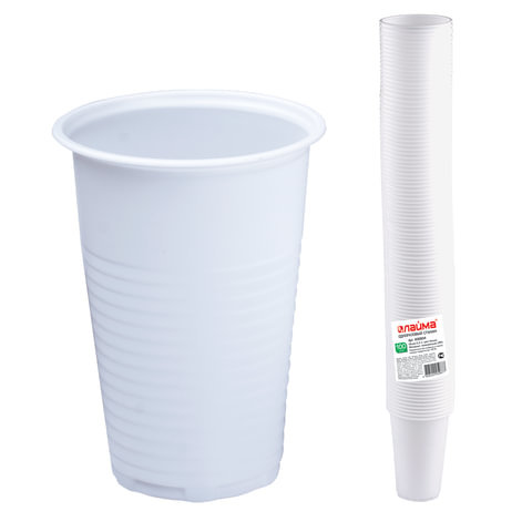 Одноразовые стаканы 200 мл 100 шт пластиковые