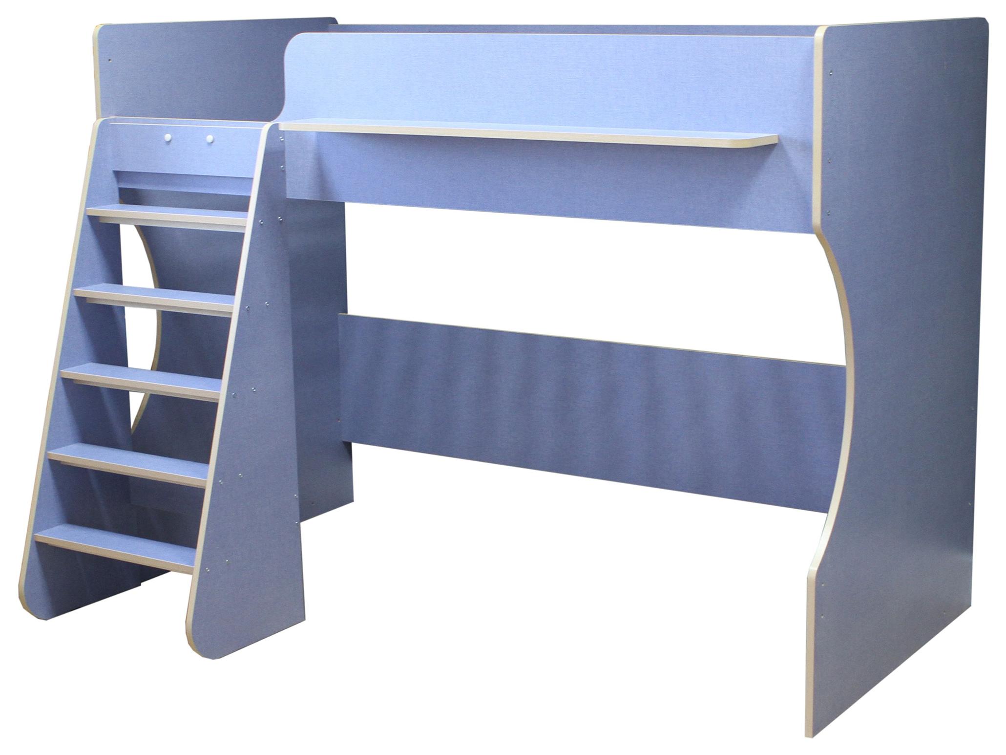 Кровать чердак Капризун Р432 лен голубая