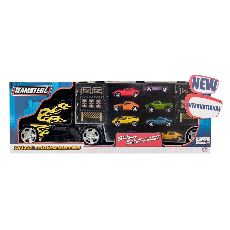 Купить Teamsterz Автоперевозчик с 8-ю машинками 1417090, Автоперевозчик с 8-ю машинками Teamsterz 1417090,