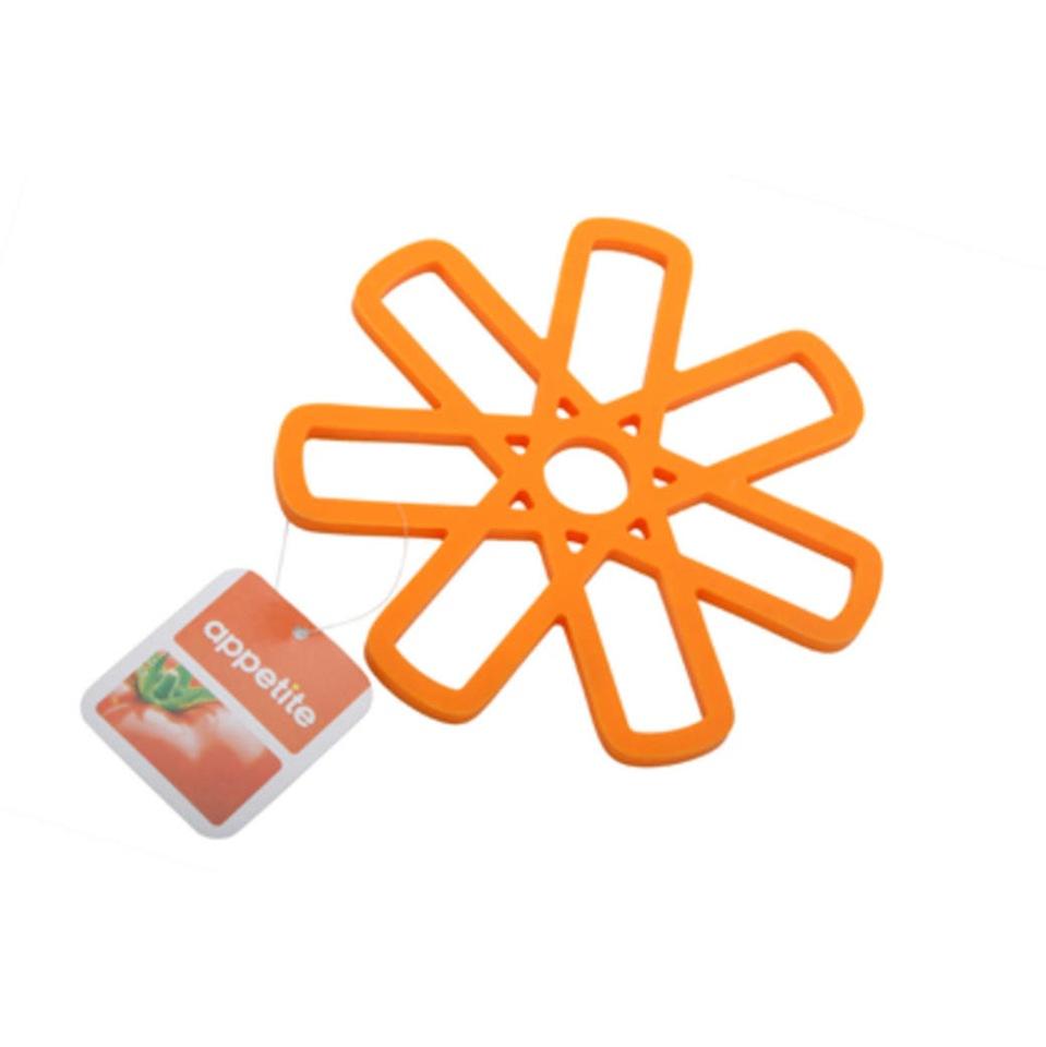 Подставка под горячее 15х15см оранжевая ТМ Appetite