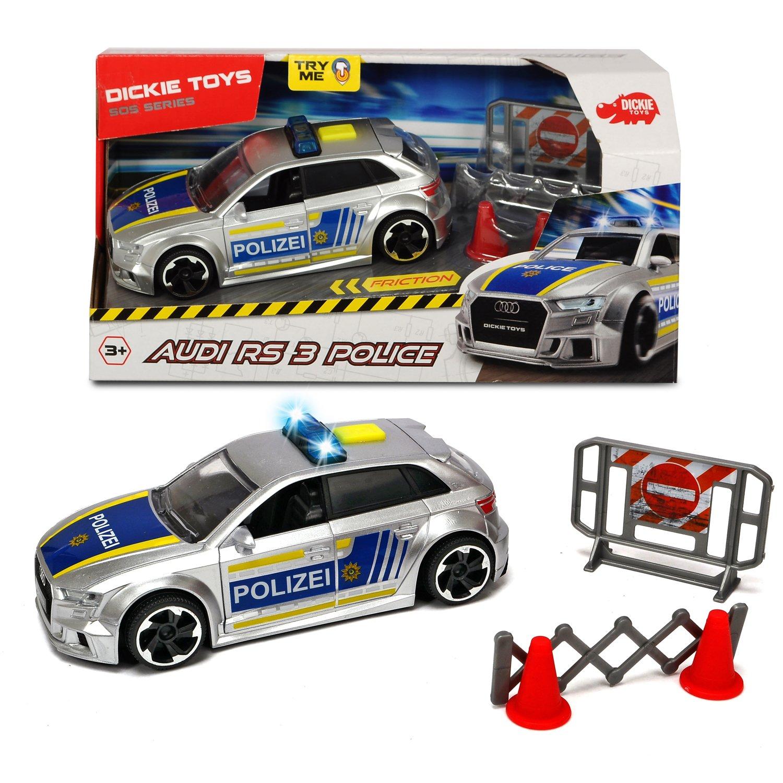 Машинка Dickie Toys Фрикционная полицейская Audi RS3,