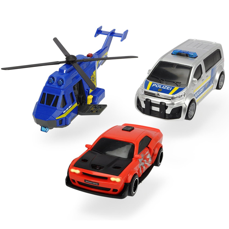 Игровой набор Dickie Toys Полицейская погоня Вертолет,