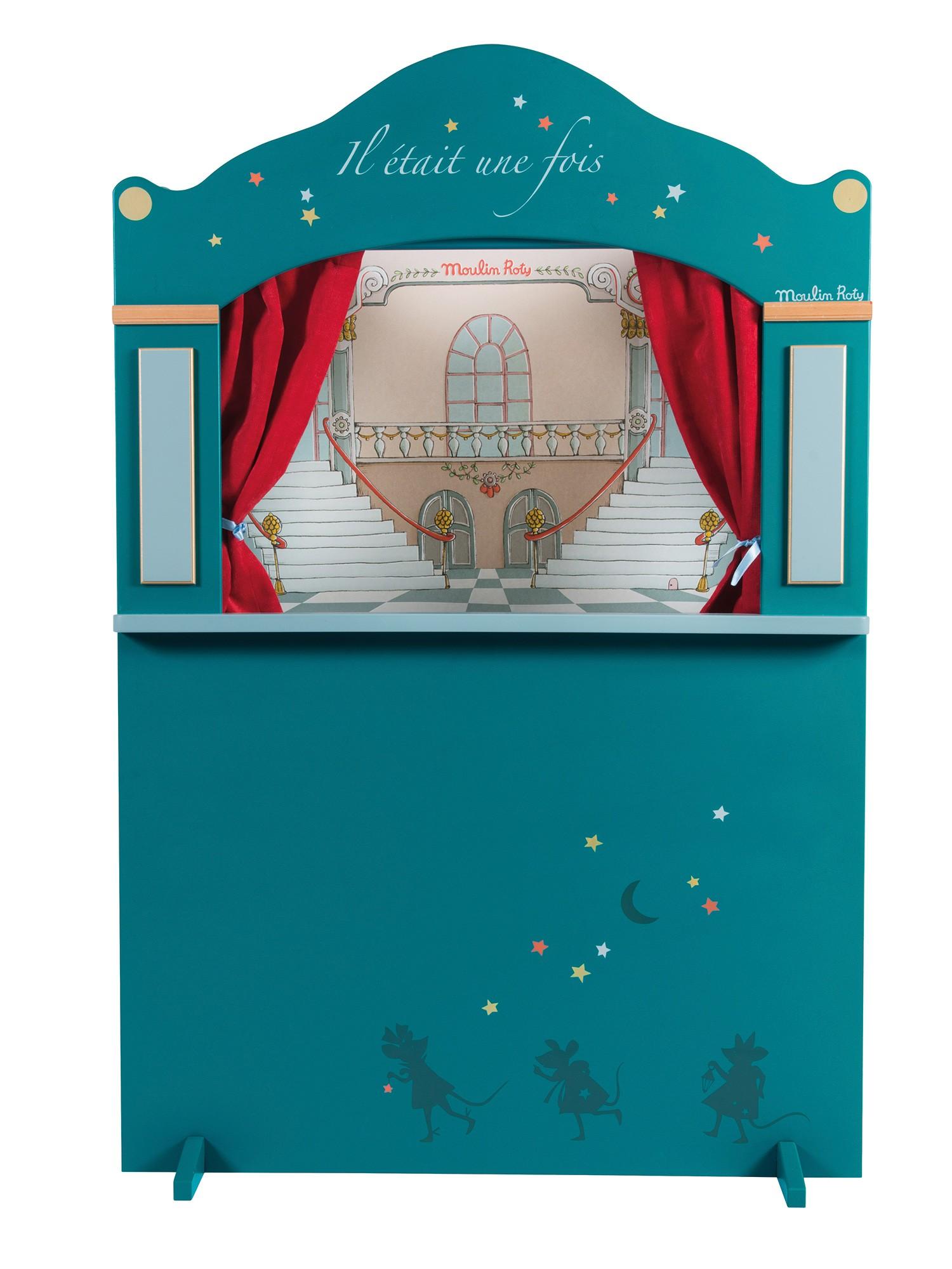Кукольный театр напольный Moulin Roty синий,