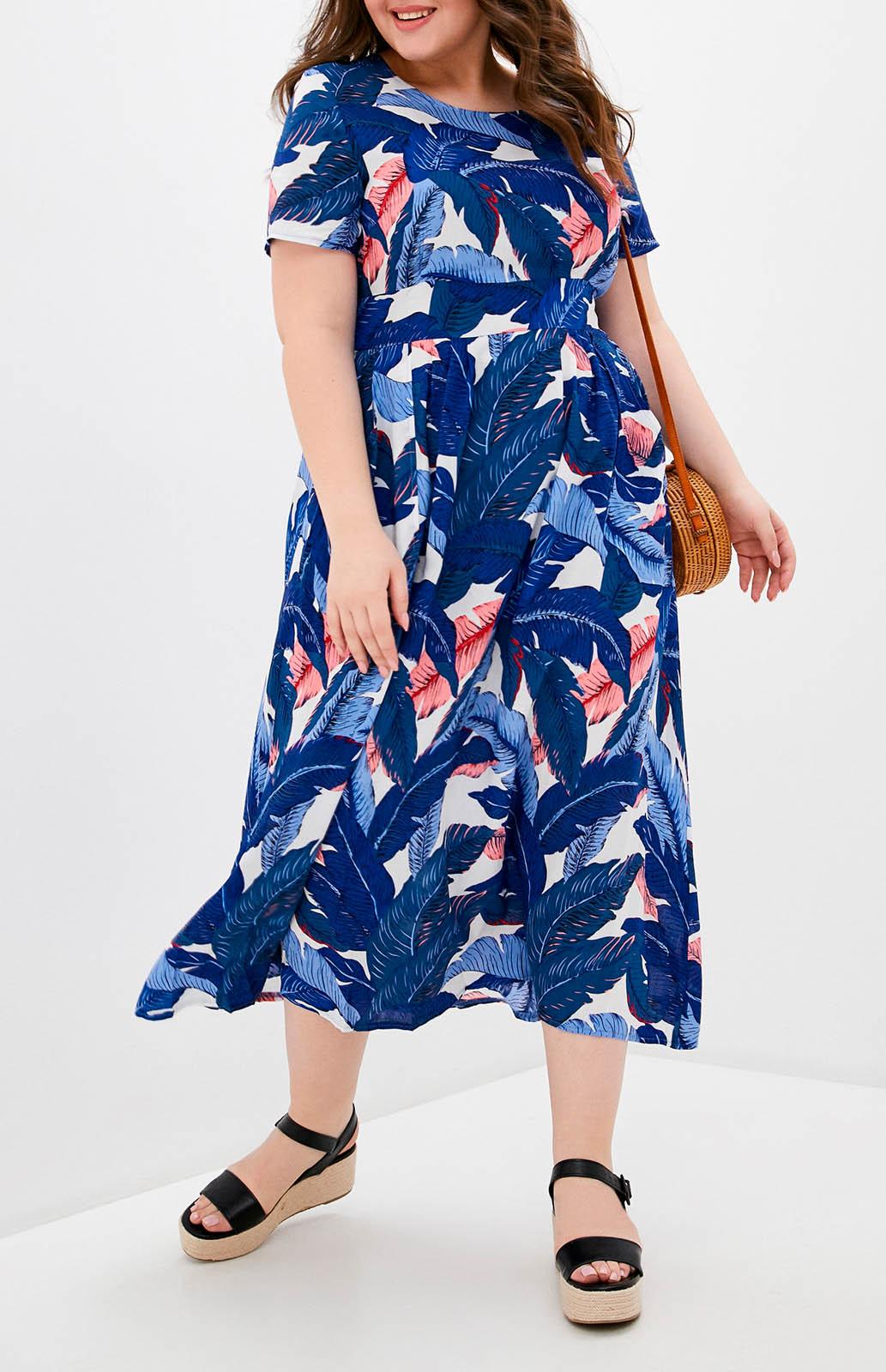 Платье женское MILANIKA М5188-7 синее 52