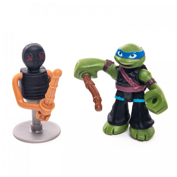 Купить Фигурка Playmates Черепашки-ниндзя Лео с боевым тренажером, Playmates Toys,