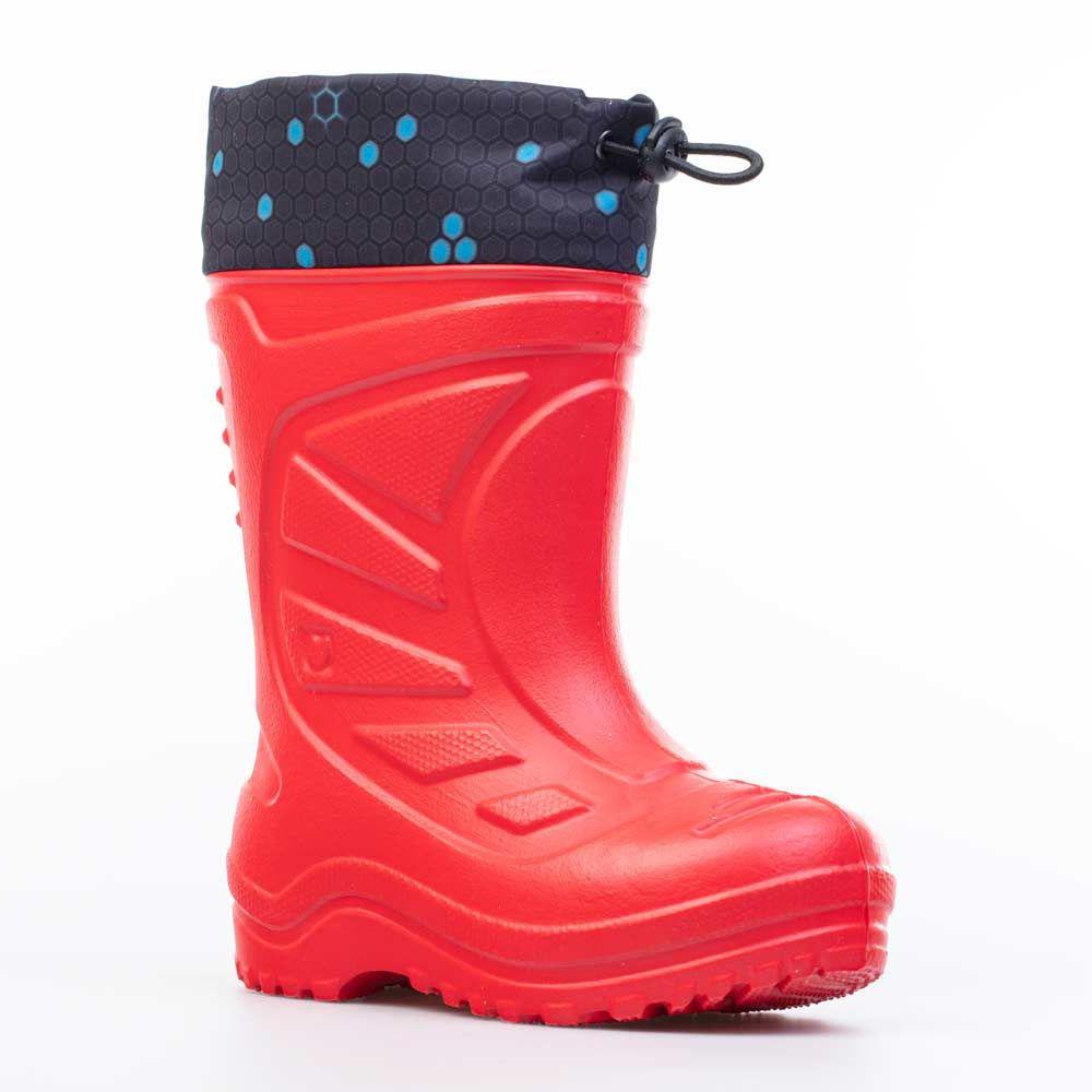 Купить 365144-17, Резиновая обувь для мальчиков Котофей цв.красный р.25,