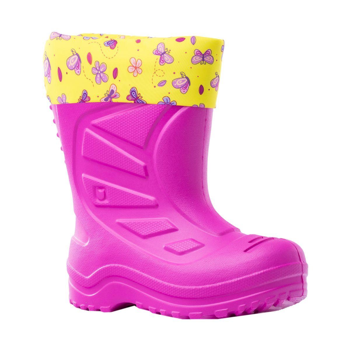 Купить 365004-15, Резиновая обувь для девочек Котофей цв.фуксия р.24,