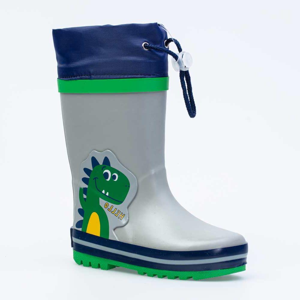 Купить 366225-11, Резиновая обувь для мальчиков Котофей цв.серый, зеленый р.24,