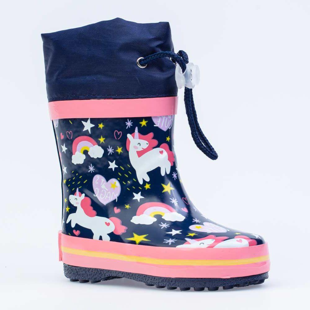 Купить 166124-11, Резиновая обувь для девочек Котофей цв.синий, розовый р.23,