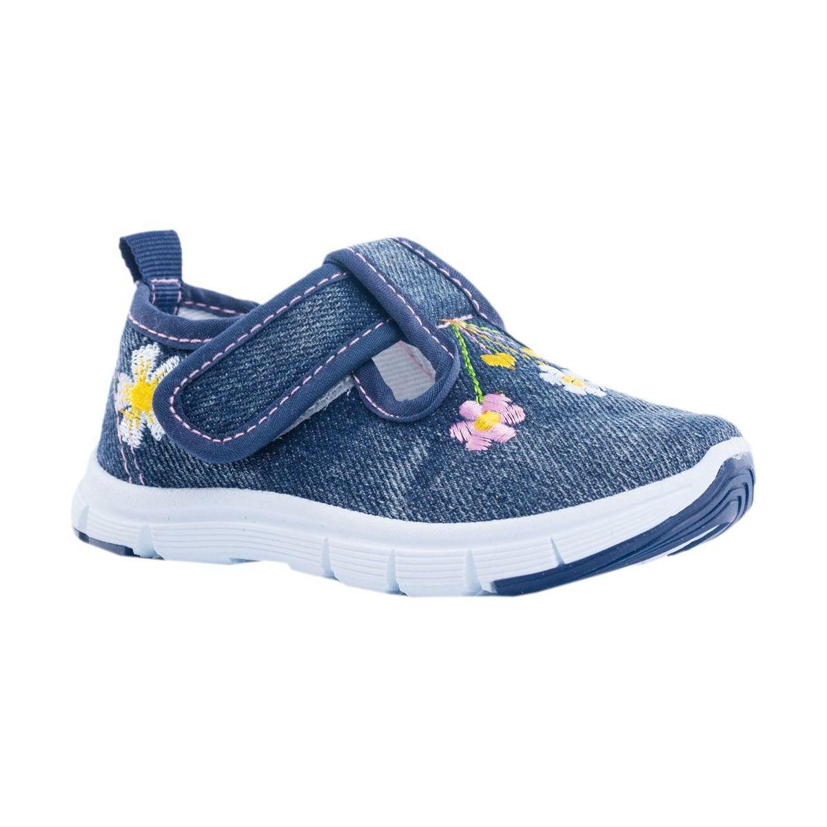 Купить 231160-11, Текстильная обувь для девочек Котофей цв.синий р.24,