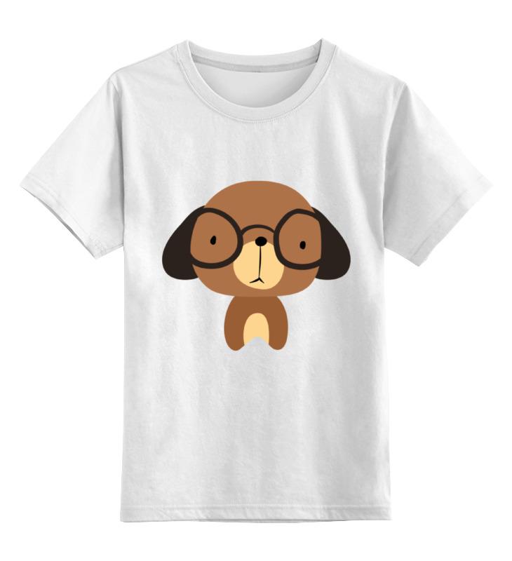 Купить 0000002209998, Детская футболка Printio Собачка цв.белый р.140,