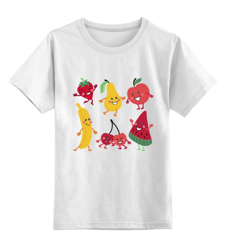 Детская футболка Printio Фрукты цв.белый р.140 0000002143235 по цене 790
