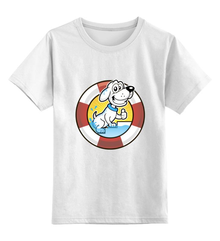 Купить 0000002130947, Детская футболка Printio Пес-спасатель цв.белый р.140,
