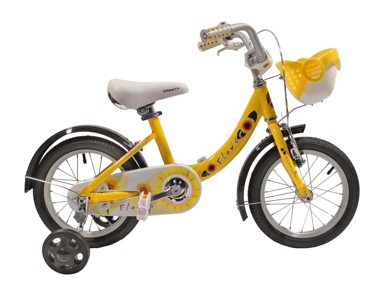 Детский велосипед Gravity Flower 14 желтый.