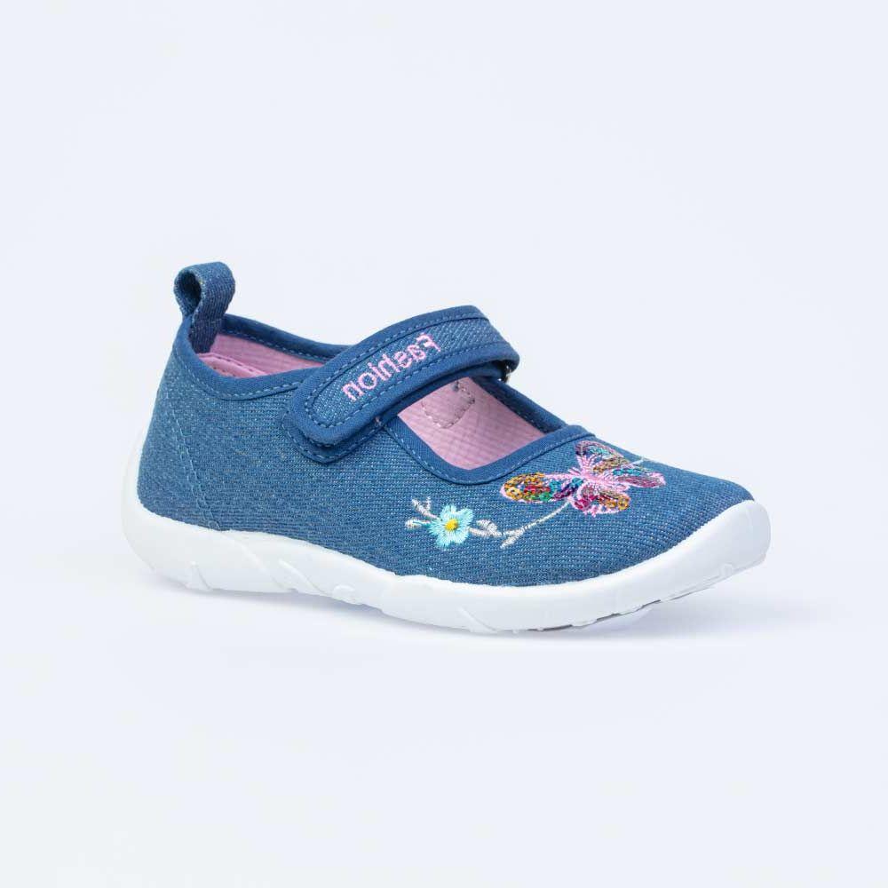 Купить 431158-14, Текстильная обувь для девочек Котофей цв.голубой р.28,