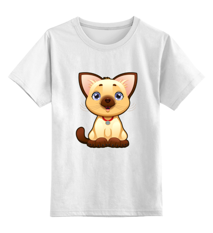 Детская футболка Printio Милый котенок цв.белый р.140 0000002052203 по цене 790