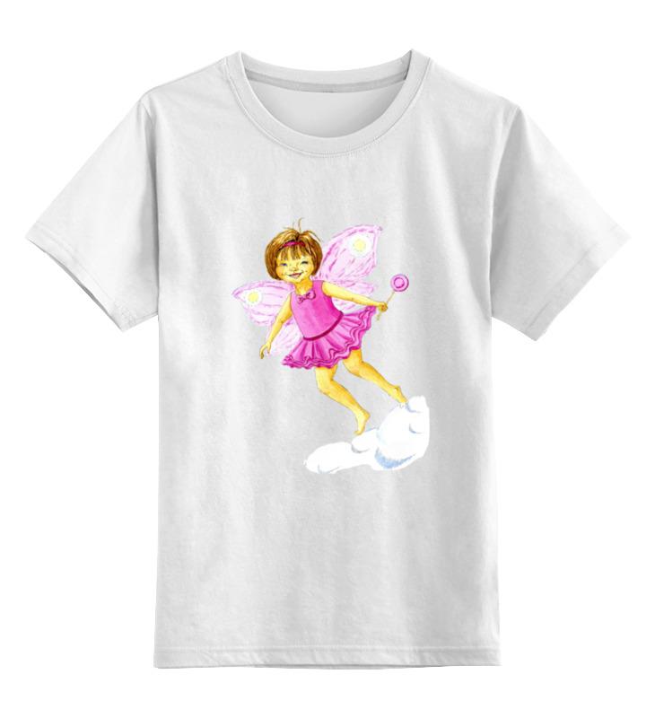Детская футболка Printio Розовая феечка цв.белый р.140 0000002035752 по цене 790